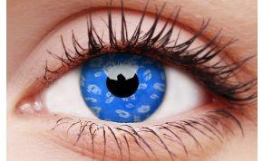 Blue Leopard Coloured Contact Lenses