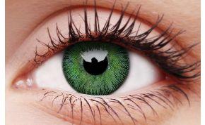 Yellow Green Coloured Contact Lenses