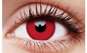 Glow Red Coloured Contact Lenses